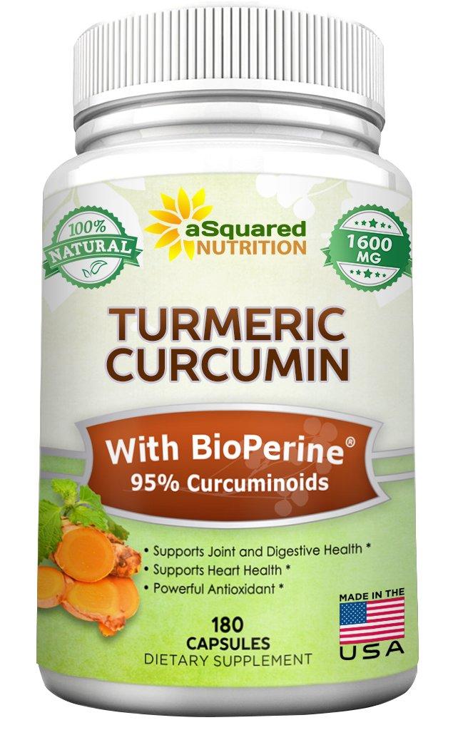 aSquared Pure Turmeric Curcumin with BioPerine Black Pepper Extract